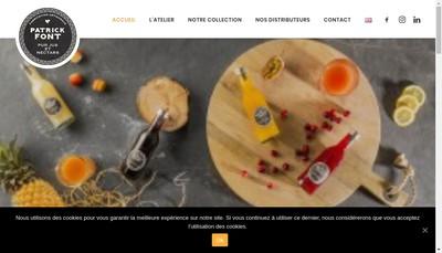 Site internet de SARL Atelier Patrick Font