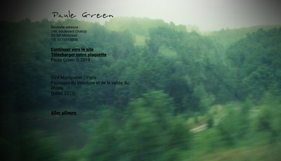 Site internet de Paule Green