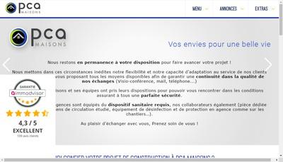 Site internet de Pca Maisons