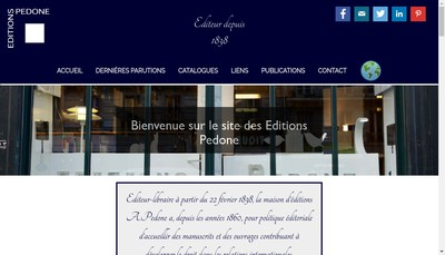 Site internet de Editions a Pedone