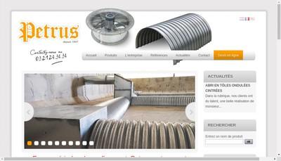 Site internet de Petrus SA