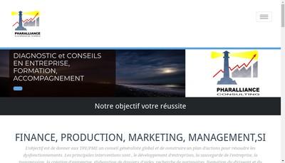 Site internet de Pharalliance Consulting