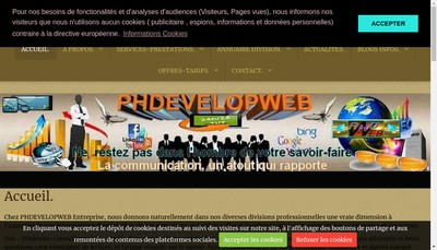 Site internet de Phdevelopweb
