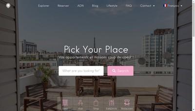 Site internet de Pick Your Place