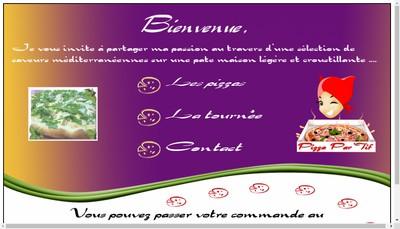 Site internet de Pizza par'Tif
