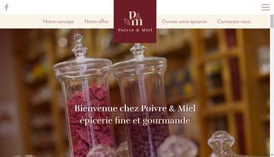 Site internet de L'Epicerie des Saveurs
