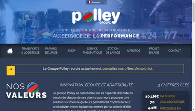 Site internet de Polley Renting