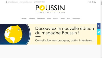 Site internet de Poussin Communication