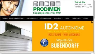 Site internet de Prodimen