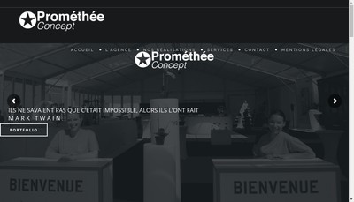 Site internet de Promethee Concept