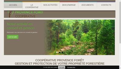 Site internet de Provence Forets