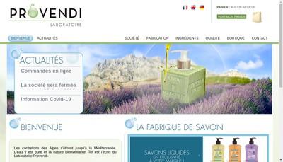 Site internet de Laboratoires Provendi SARL