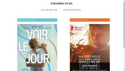 Site internet de Pyramide Internationale-Pyramide Distrib