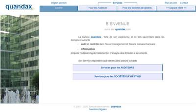 Site internet de Quandax