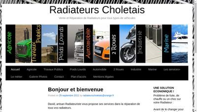 Site internet de Radiateurs Choletais