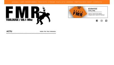 Site internet de Radio Fmr