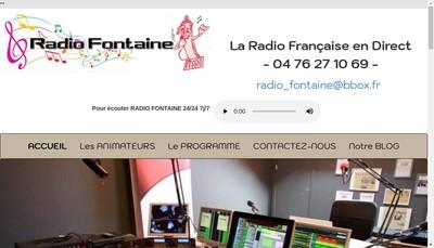 Site internet de Radio Fontaine