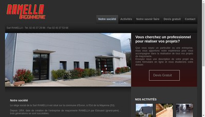 Site internet de SARL Unipersonnelle Ramella P