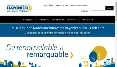 Site internet de Rayonier AM France