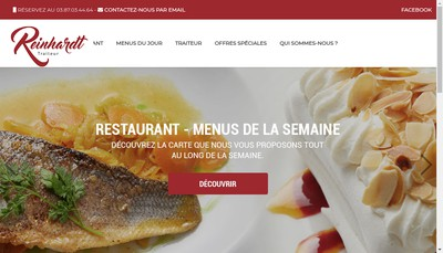 Site internet de Reinhardt Traiteur