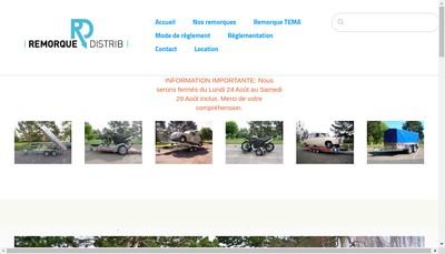 Site internet de Remorque Distrib