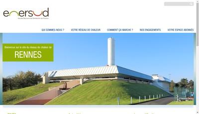 Site internet de Enersud - Societe Rennaise de Distribution de Chaleur