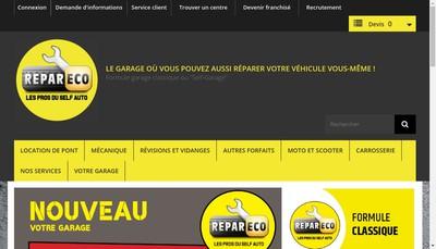 Site internet de SARL Repareco