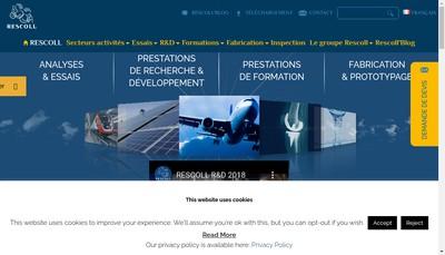 Site internet de Rescoll