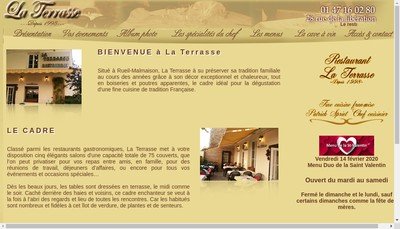 Site internet de La Terrasse