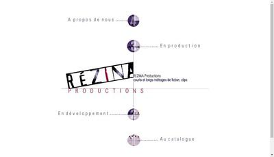 Site internet de Rezina Production