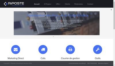 Site internet de Riposte Consulting & Services