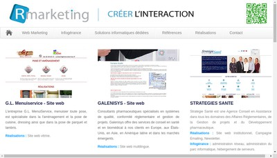 Site internet de SARL R Marketing