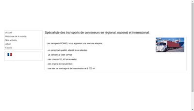 Site internet de Transports Romieu