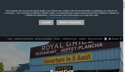 Site internet de Royal Grill