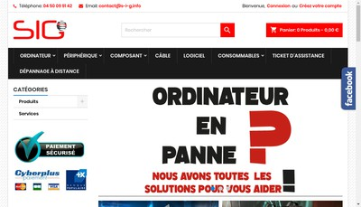 Site internet de Solution Informatique Globale
