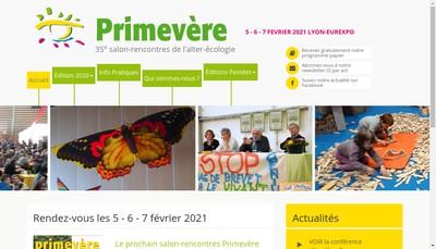 Site internet de Primevere
