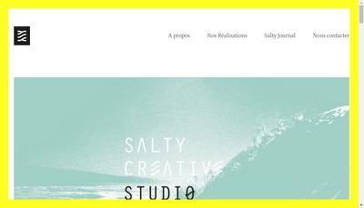 Site internet de Salty Creative