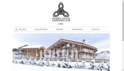 Site internet de Patrick Sanyas Immobilier