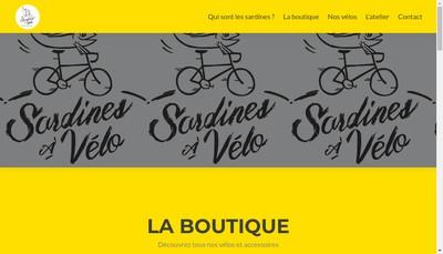 Site internet de Sardines a Velo