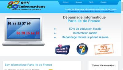 Site internet de Sav Formation