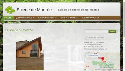 Site internet de Scierie de Mortree
