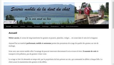 Site internet de Scierie Mobile de la Dent du Chat