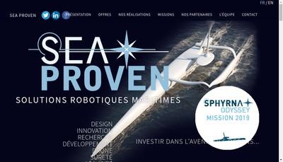 Site internet de Sea Proven