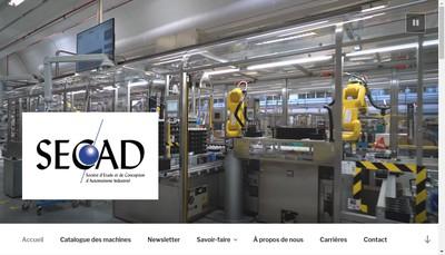 Site internet de Secad