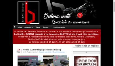 Site internet de SELLERIE BRIANT
