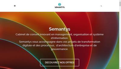 Site internet de Semantys