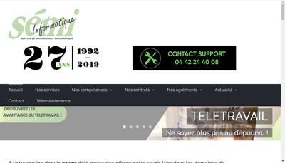 Site internet de Service Maintenance Informatique
