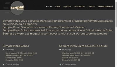 Site internet de Sempre Pizza Groupe