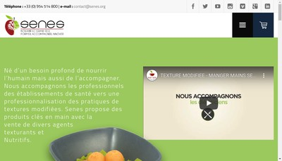 Site internet de Senes Solutions