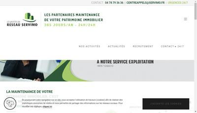Site internet de Servimo Savoies